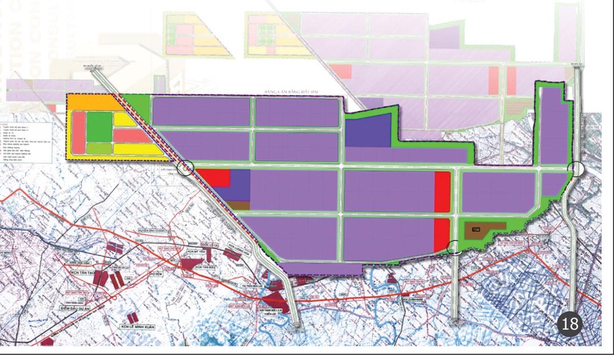 bản đồ đất khu công nghiệp long khánh