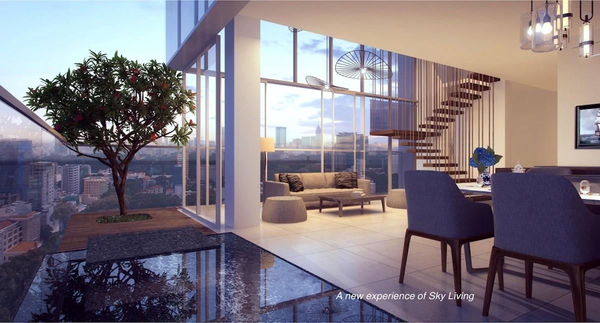 nội thất cao cấp sky villas