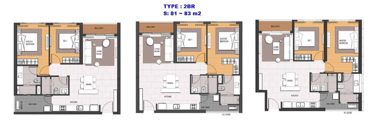 thiết kế căn hộ 2br empirecity