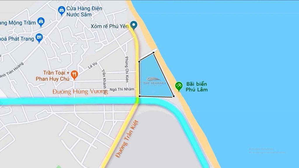 vị trí dự án the seahara