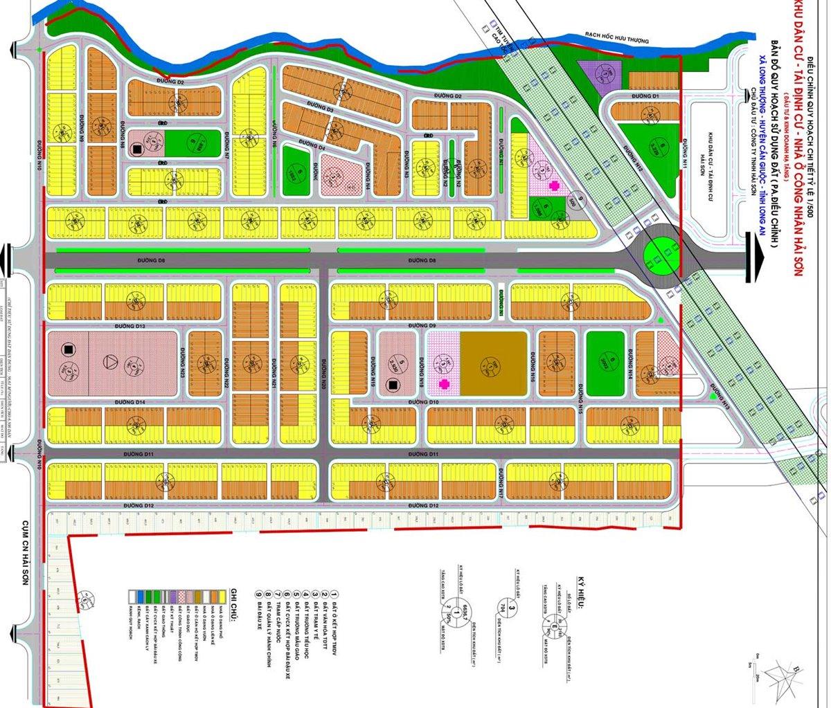 bản vẽ dự án sol city long an