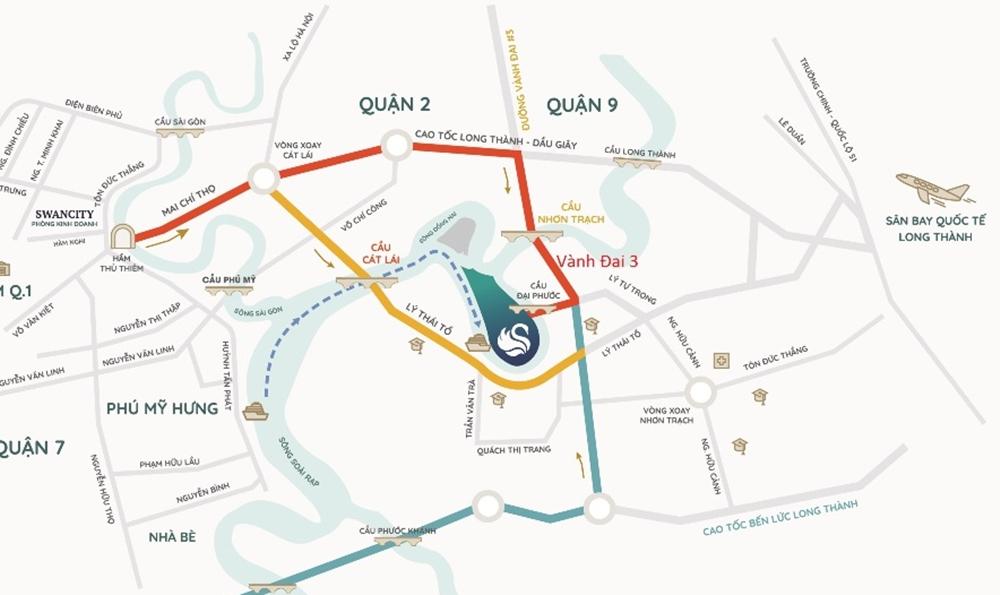 vị trí khu đô thị swan bay nhơn trạch