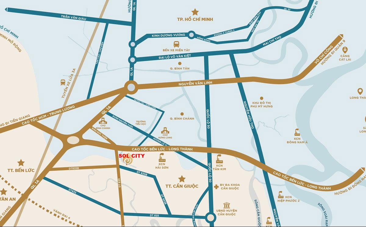 vị trí sol city long an