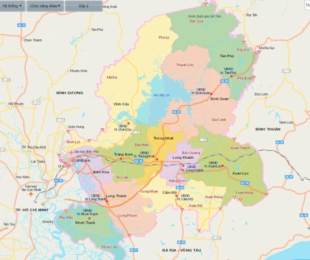 bản đồ quy hoạch đồng nai