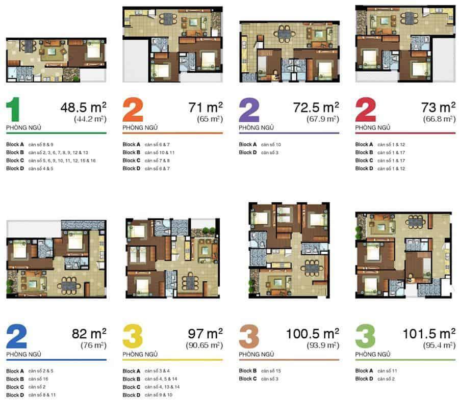 thiết kế căn hộ lexington residence
