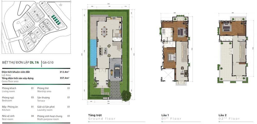thiết kế biệt thự đơn lập venica quận 9