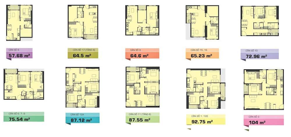 thiết kế căn hộ the tresor bến vân đồn