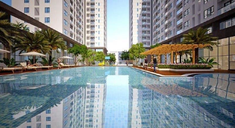 hồ bơi căn hộ golden mansion