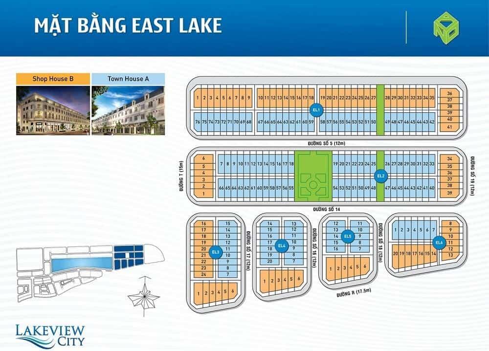 bản đồ East Lake