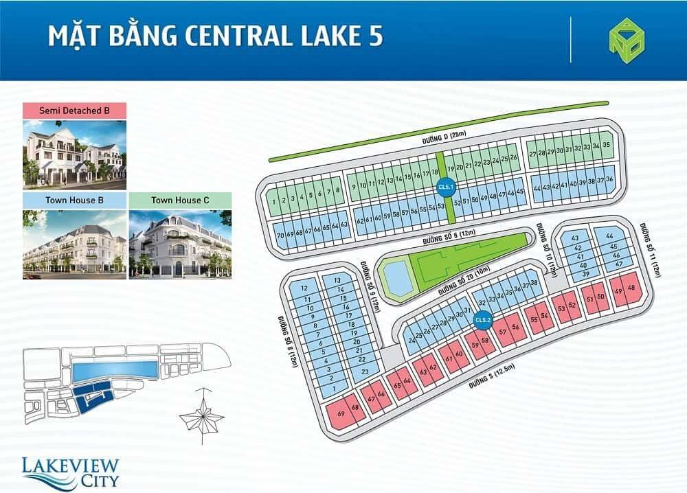 mặt bằng dự án central lake 5