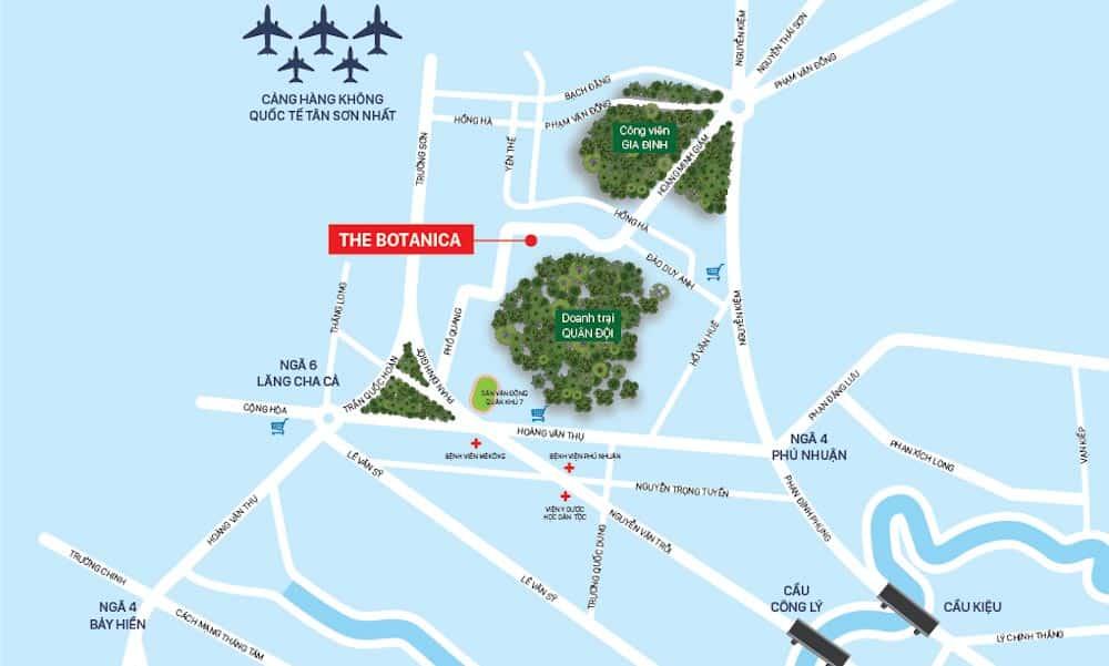 vị trí the botanica